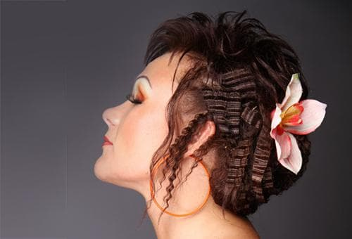 Косы на гофрированные волосы