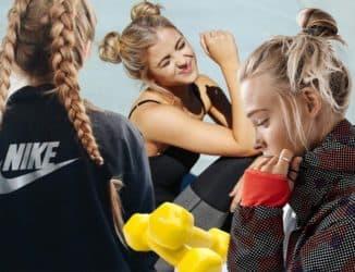 спортивные прически для девушек