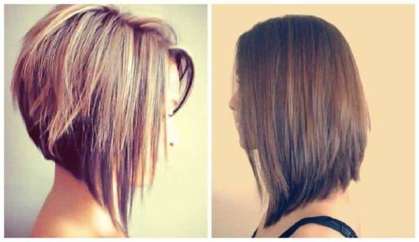 Удлиненный боб на средние волосы