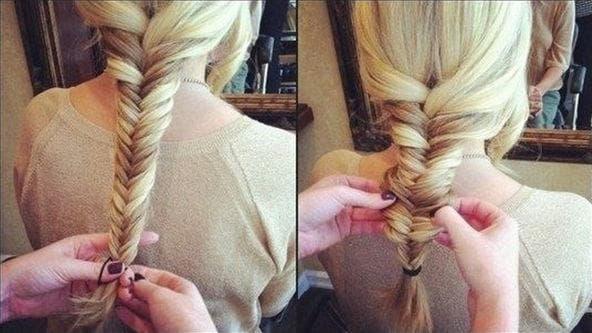 Плетение кос из 4 прядей