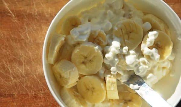tvorog i banan